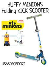 New HUFFY Minions KICK SCOOTER Kids Inline Ride-On Toy Folding Boys/Girls Minion