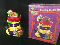 How the Grinch Stole Christmas Stocking Cookie Jar Grinch, Cindy Loo, Max Dog