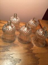 5 Vtg Homco Home Interiors Clear Glass Valencia Votive Cups Candle Holders
