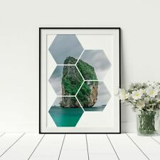 Ha Long Bay Vietnam Hexagon Print Conceptual Design Travellers Gift Gap Year