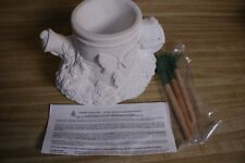 Vintage Wee crafts Watering Can  Pot Unpainted Paintable - Ceramic Planter white