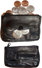 Lot of 2 Change purse, leather coin case, Little case w/ key ring New in package