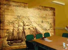 Tall Ship-12'W by 8'H-Wall Mural