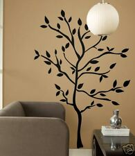 TREE BRANCHES BiG Wall Stickers Mural BLACK Leaves Room Decor Vinyl Decals NEW