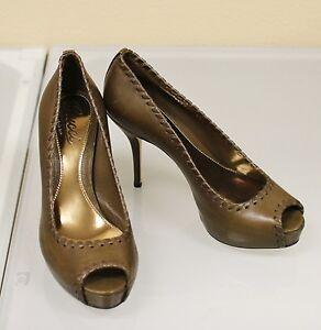 New GUCCI Sofia Hand-Stitched Leather Platform Sandals 38/8 264984 2314
