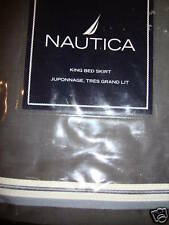 New Nautica Anchorage Grey King Bed Skirt