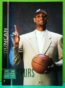 Tim Duncan rookie card 1997-98 Upper Deck #114