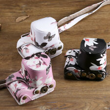 Butterfly Pattern PU Leather Camera case bag for Sony A5000 A5100 16-50mm lens