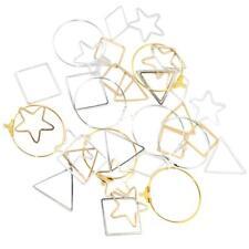 36 Pezzi Orecchini Risultati in Quadrato Stella Triangolo Forma Fai Da Te