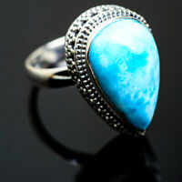 Larimar 925 Sterling Silver Ring Size 7.25 Ana Co Jewelry R993162F