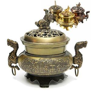 Chinese Buddhist Incense Burner Metal Bakhoor Censer Home Fragrances Diffuser