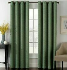 Insola Foray 84-Inch Grommet Top Window Curtain Panel in Emerald