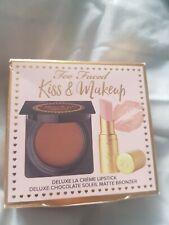 TOO FACED CHOCOLATE SOLEIL BRONZER MEDIUM/DEEP MATTE BRONZER Nude beach lipstick
