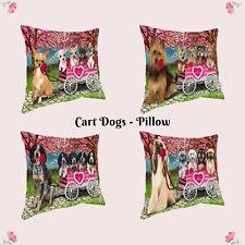 I Love Cart Dog Cat Pillow,Valentine Pet Photo Lovers Pillow Gifts, Throw Pillow