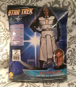 New Authentic Licensed Star Trek Female Klingon Costume S M L Up Rubies Fast Shi