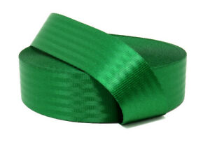 Green 11 Panel Polyester Webbing | Seat Belt Webbing 47mm | Soft and very strong