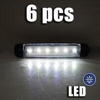 6x 24v LED BLANCA LUZ DE Marcador Lateral Posición para Scania DAF MAN VOLVO