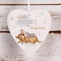 Disney Heart Plaque Little Prince Sleeps Here Baby Boy Gift DI400