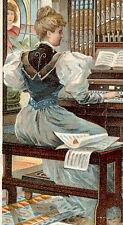 DE WITT, IOWA TRADE CARD, THE ESTEY PHoNoRIUM (ORGAN),  L. F. BROWN, AGENT  Z460