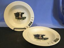 ORIGINAL WORLD OF JET COUNTRY COWS - 2 SOUP BOWLS, TER STEEGE NETHERLANDS