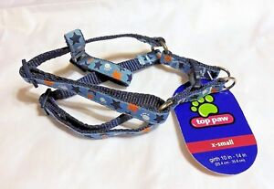 """Top Paw Blue Adjustable Dog Harness X-small 10""""-16"""" NWT"""