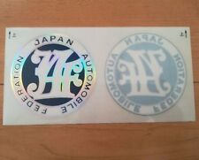 JAF sticker inside paste / outside pasting decal Japan Automobile Federation F/S