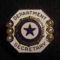 1930's-40's AMERICAN LEGION AUXILIARY 10K GOLD DEPARTMENT SECRETARY PIN - 3.3g