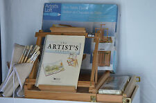 Artist Studio Easel Water Colors and Brushes and more