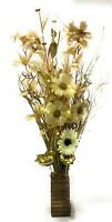 New cream Gold Xmas display in wood vase with LED lights weddings & Xmas