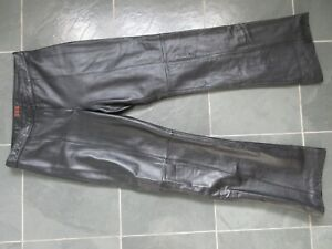 DANIER Designed in CANADA Black Real Genuine Leather Lined Pants