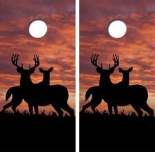 Buck Doe Deer Cornhole Board Decal Wrap Free Laminate