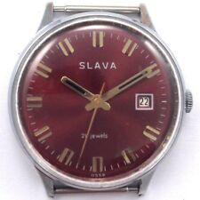 Vintage Russian Soviet SLAVA WindUp Watch 1980s 36mm Serviced *US SELLER* #902