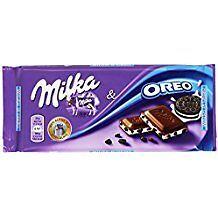 CHOCOLATE MILKA CON GALLETAS OREO  PACK DE 3 TABLETAS DE 100 GR