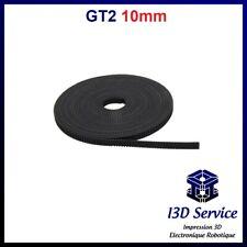 Cintura GT2 Larghezza 10mm Al Non Da 2mm - Gomma + Fibra Da Vetro