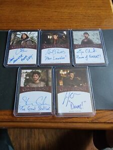 2021 Game of Thrones Iron Anniversary Inscription Auto Autograph 17x Mixed Lot