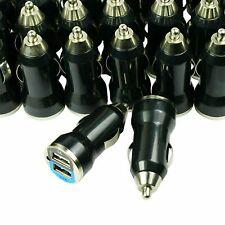 Wholesale Lot 100 Universal Dual Port 2.1A 10W Fast USB Car Chargers - Black