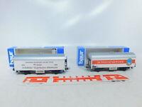 BY287-0,5# 2x Baur H0/DC Güterwagen NEM: Schussenrieder+751118 1900/1995 s.g+OVP