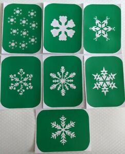 7 x Snowflake-2  Face Painting And Glass Etching Stencils Glitter Stencil Art