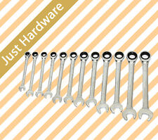 12PC pcs Open End Ratcheting Wrench SET Ratchet Combination Gear Spanner