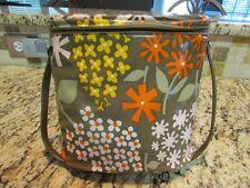 Vintage Rare 1970 Krazy Daisy Brown Vinyl Brunch Bag Lunchbox