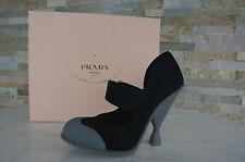 Prada Talla 36,5 Zapatos de tacón Tacones Zapatos scarpe negro black nero nuevo