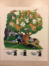 Vintage T-Shirt Heat Transfer Fair Is Fair Dogs in Tree 1994