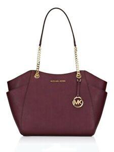 Michael Kors Bag / Bag Jet Set Travel LG Chain Tote Bag Saffiano Merlot