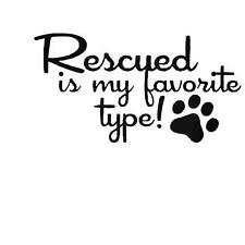 Rescued Pet Paw Print Car Sticker Funny Vinyl Decals Motorbike Fairings Panniers