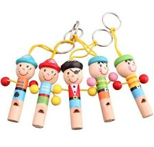 Infant Toddler Baby Boy Girl Kids Pirate Whistle Sound Birthday Gift Wooden Toys