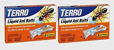 2 TERRO 6 Pack Outdoor Indoor Liquid Ant Killer Bait Tray Traps Ready 2 Use T300