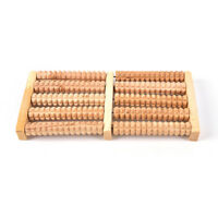 5Raw Wooden Wood Roller Foot Massager Stress Relief HealthTherapy Relax *FO