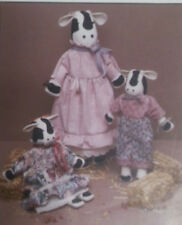 "Prairie Farm Dear Bessie cow 22"" & 16"" dolls sewing craft pattern"