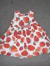 Girls George Cotton Fruit Dress Age 3-4