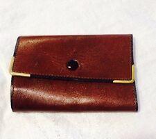 Vtg 1960's Matras Brown Leather Key Holder Snap Closure Tri Fold
